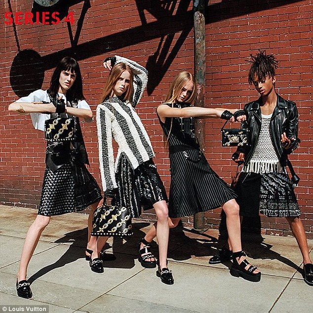 Jaden Smith now modeling Louis Vuitton womens clothing
