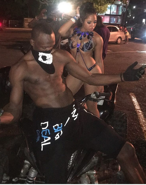 Usain Bolt expresses public display of affection for girlfriend Kasi at Bacchanal