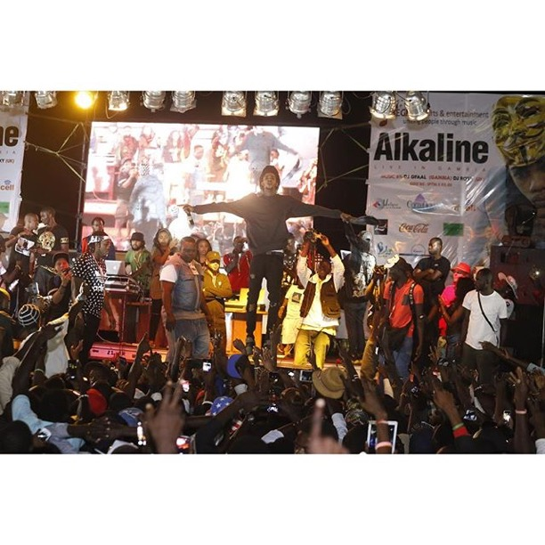 Alkaline alongside The Vendetta Clan 'Conquer' Gambia