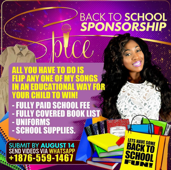 Spice announces Back To School Sponsorship