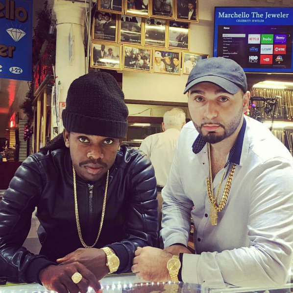 Jahmiel purchases new jewelry in New York
