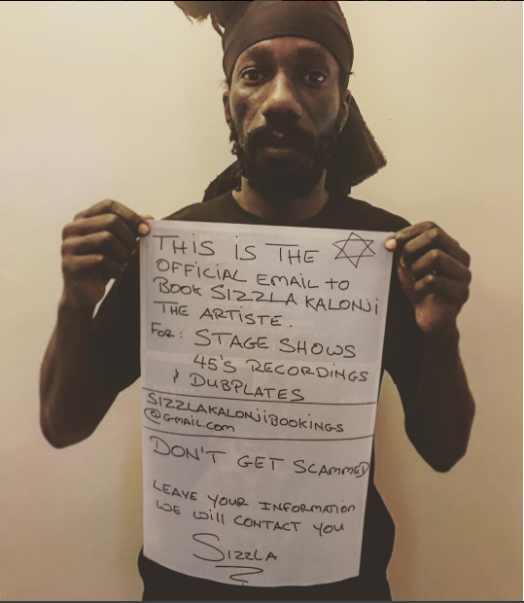 Sizzla Kalonji warns scammers to stop defrauding customers in his name