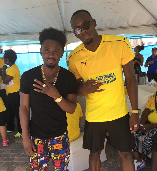 Usain Bolt and friends vibe at his Usain Bolt Foundation fundraiser