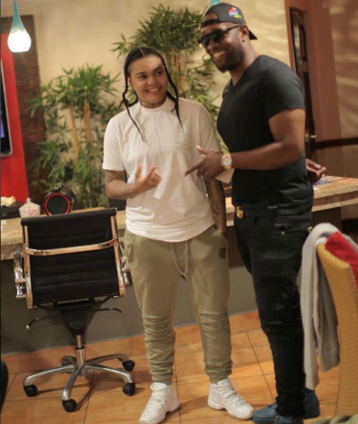 Young M.A arrives in Jamaica ahead of her BritJam performance
