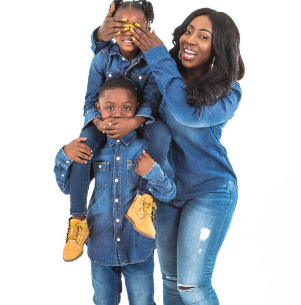 Spice Reunites With Her Kids In London