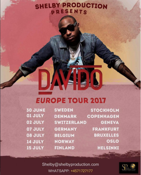 Davido Announces European Tour Dates