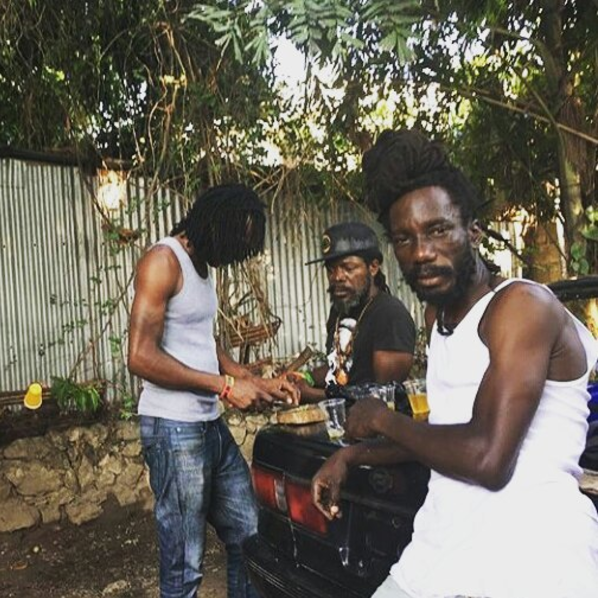 Sizzla Shows Off His Bike Skills With Popcaan & Friends