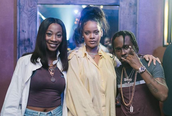 Popcaan, Rihanna In Studio While On Tour In Barbados