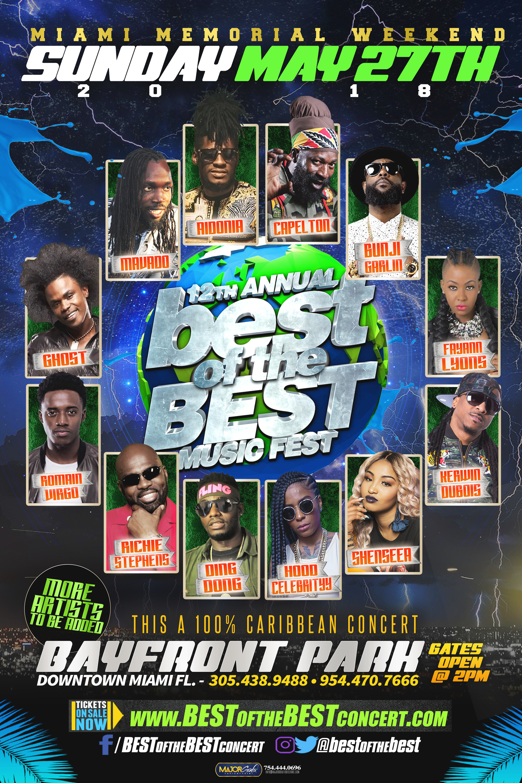Top Reggae Acts Announced For Memorial Day 'Best of the Best' Concert